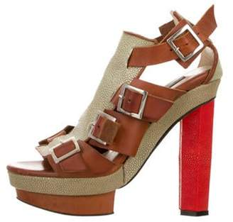 Chrissie Morris Ida Stingray Platform Sandals red Ida Stingray Platform Sandals
