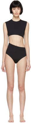 Haight Black Diagonal One-Piece Swimsuit