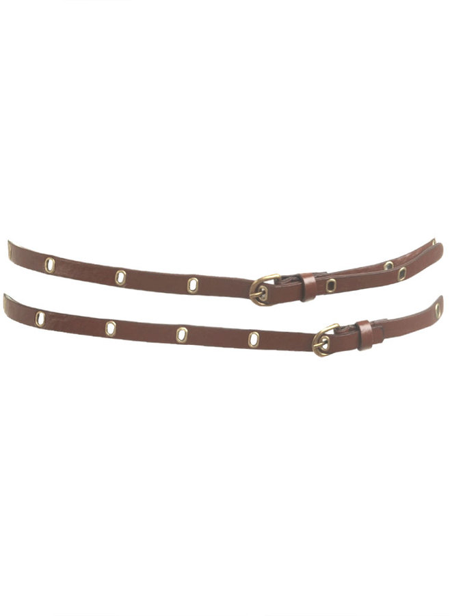 Double Wrap Grommet Belt