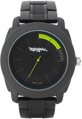 Zoo York Mens Matte Black And Yellow Bracelet Watch