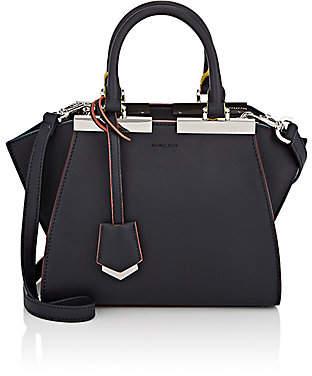 Fendi Women's 3Jours Mini Leather Satchel - Dark Blue+Palladium