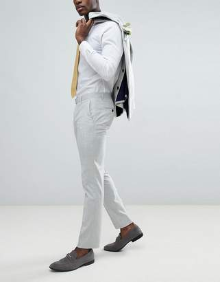 Farah Smart skinny wedding suit pants in cross hatch