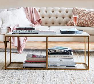 Pottery Barn Delaney Marble Rectangular Coffee Table