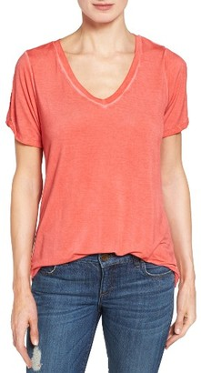 Women's Kut From The Kloth Rayie Twist Cuff Tee $58 thestylecure.com