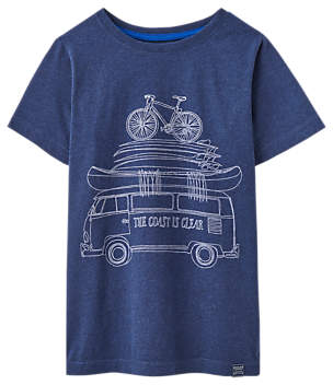 Little Joule Boys' Mini Me T-Shirt, Blue