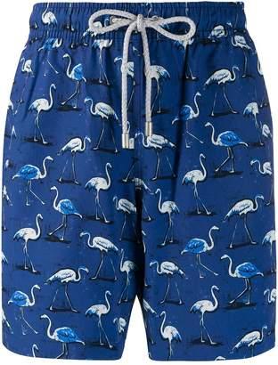 Bluemint Eclipse Flamingo print swim shorts