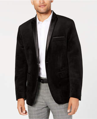 INC International Concepts I.n.c. Men's Classic Fit Max Velvet Blazer, Created for Macy's