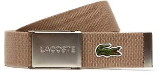 Lacoste Men's Made in France Woven Fabric Belt