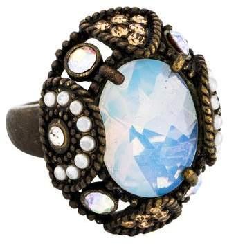 Nina Ricci Crystal Cocktail Ring