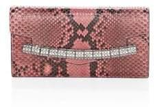 Calvin Klein Python& Crystal-Strap Clutch
