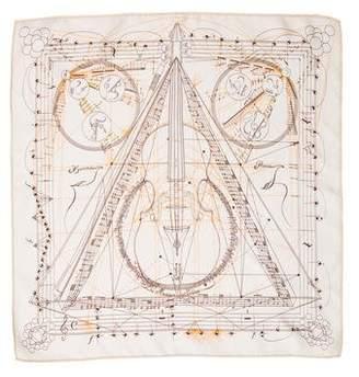 Hermes La Musique des Spheres Silk Pocket Square