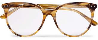 Bottega Veneta Round-Frame Tortoiseshell Acetate Optical Glasses