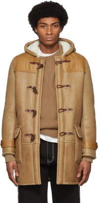 Schott Tan Noah NYC Edition Shearling Toggle Coat