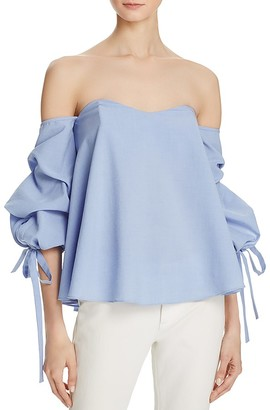 Do and Be Bustier Tie-Sleeve Top $68 thestylecure.com