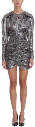 Isabel Marant Palmi Silver Silk Mini Dress