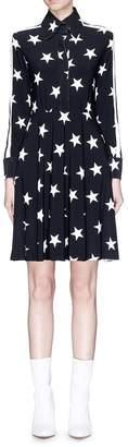 Norma Kamali Stripe outseam star print shirt dress