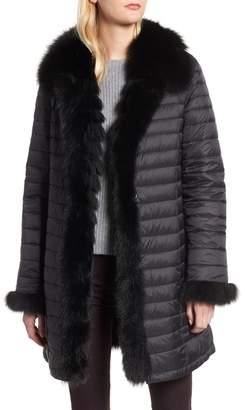 Blue Duck Reversible Water Resistant Genuine Fox Fur Down Coat