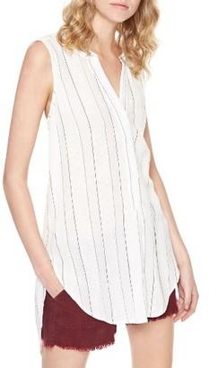 Women's Sanctuary Arlo Stripe Cotton & Linen Tunic $79 thestylecure.com