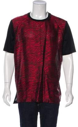 Lanvin Silk-Blend Tiger Print T-Shirt