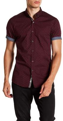 Report Collection Geo Print Short Sleeve Slim Fit Shirt