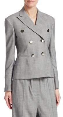 Calvin Klein Glen Plaid Wool Jacket
