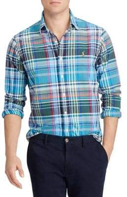 Polo Ralph Lauren Plaid Polo Cotton Oxford Shirt