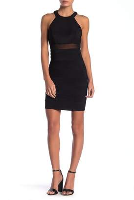Love, Nickie Lew High Neck Lace Back Bodycon Dress (Juniors)