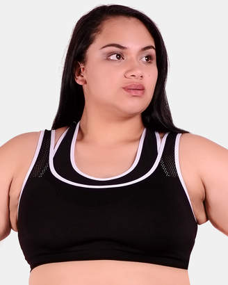 Curvy Double Racer Sports Bra