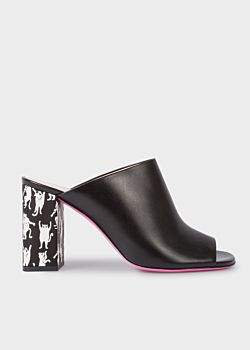 Paul Smith Women's Black Calf Leather 'Molly' Heeled Sandals