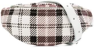 Manokhi faded tartan belt bag