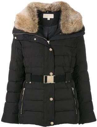 MICHAEL Michael Kors belted padded jacket