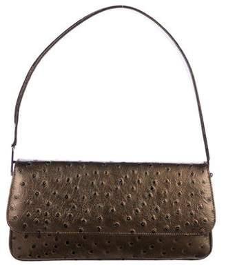 Stuart Weitzman Ostrich Baguette Bag