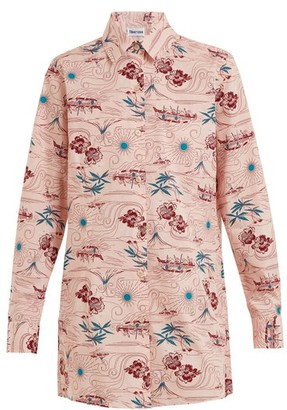 Thorsun Georgie Polynesia Print Cotton Shirt - Womens - Pink Multi