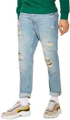 Topman Original Fit Ripped Jeans