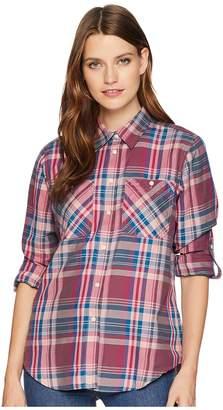 Lauren Ralph Lauren Plaid Cotton-Twill Shirt Women's Clothing
