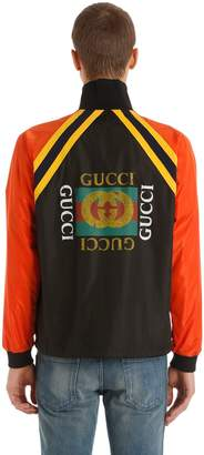 Gucci Logo Printed Light Nylon Jacket