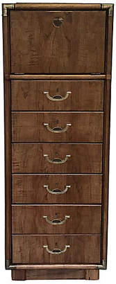 One Kings Lane Vintage Campaign-Style Tall Dresser by Drexel - Uptown Found