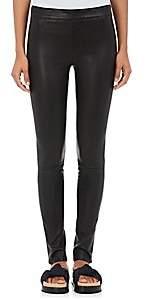 Helmut Lang Women's Stretch Leather Leggings - Blk