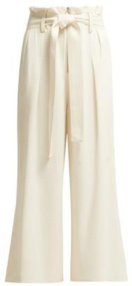 Proenza Schouler Paperbag Waist Wide Leg Trousers - Womens - Ivory