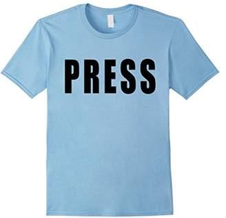 Press T-Shirt in black text
