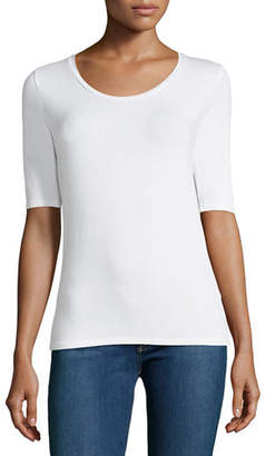 Majestic Soft Touch Long-Sleeve Scoop-Neck Tee