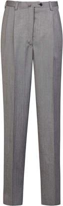 Giuliva Heritage Collection Cornelia Tailored Herringbone Wool Straigh