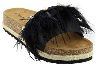 Nature Breeze Yanna Feather Espadrille Sandal