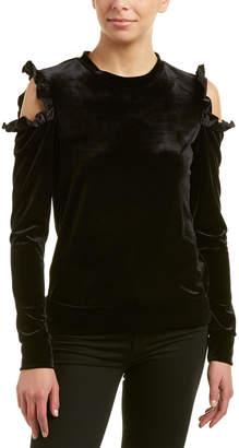 DREW Samantha Dru Cold-Shoulder Ruffle Top