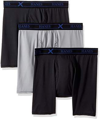 Hanes Ultimate Men's 3-Pack X-Temp Performance Stretch Boxer Briefs