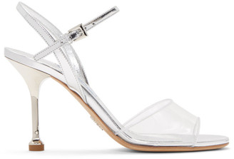 Prada Transparent and Silver Metallic Sandals