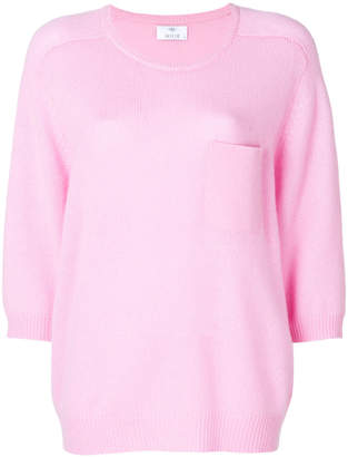 Allude patch pocket cashmere jumper