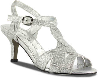 e0a4b054133 Easy Street Shoes Silver Open Toe Women s Sandals - ShopStyle