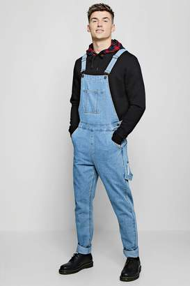 boohoo Slim Fit Rigid Denim Dungarees