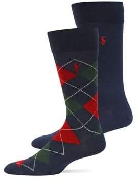 Polo Ralph Lauren Arglye Dress Socks, 2-Pack